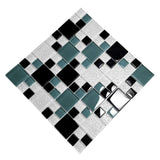 Tricolor Lattice - 3-dimensional Mosaic Decorative Wall Tile(2pc)