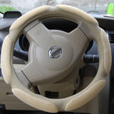 High Quality Simple Design Cool Steering Wheel Cover,cream-coloured