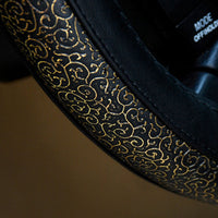 High-quality Carved Design Steering Wheel Cover,classic Golden
