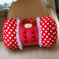 Set Of 2 Female Favourite Car Neck Pillow-chiropractic Neck Pillow (red Memory)