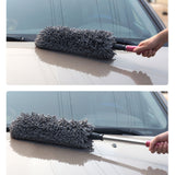 Set Of 3 Cleaning Supplies Retractable Car Duster & Honeycomb Sponge & Towels
