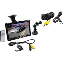 "Pyle Pro 7"" Window Suction-mount Lcd Widescreen Monitor & Universal Mount Backup Color Camera With Distance-scale Line"