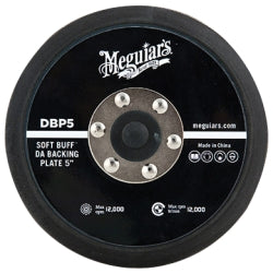 Meguiar's Soft Buff Da Polisher Backing Plate (5 In., 5-16 In.-24 Spindle)