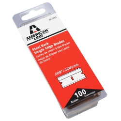 Single Edge 0.009 Steel Back Razor Blades Box (pack Of 100)