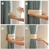 1 Pcs Modern Creative Curtain Buckle Strap Gold-plated Curtain Tied Strap, Beige