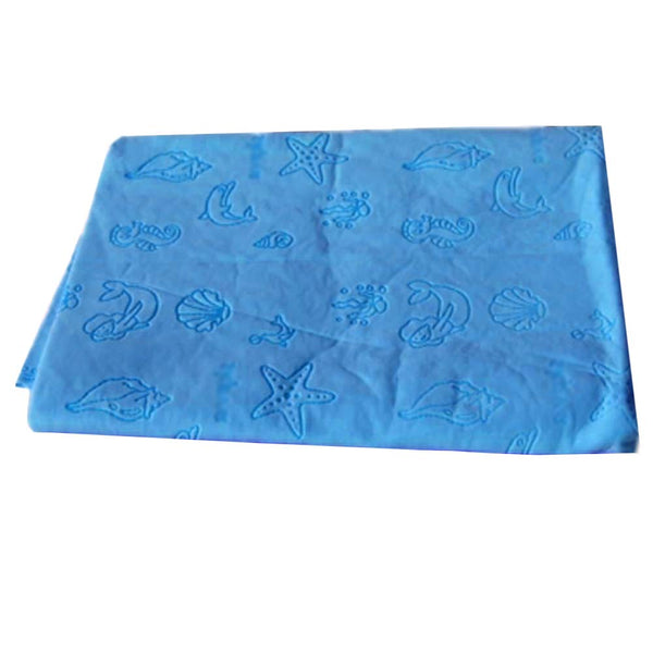 4 Pieces Cartoon Care Towels Strong Absorbent Cleaning Cloths, 43x66 Cm, Blue