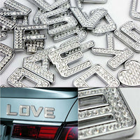 Creative Car Auto Motorcycle Metal Sticker Exterior Accessories Symbol Decorative Decal, Alphabet J