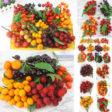 Artificial Cherry Sets Fake Fruits Storefront Decoration 2 Sets