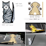 Cat Tail Stickers Windshield Wiper Decal Tags Rear Window Car Stickers Decals