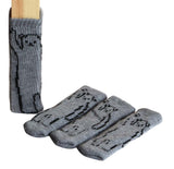 24 Pcs Chair Leg Floor Protector Pads Furniture Socks [bear, Gray]
