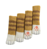 16 Pcs Cat Chair Socks Chair Leg Pad Floor Protection Pad [a-1]