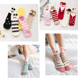 2 Pairs Christmas Socks Fluffy Coral Velvet Thick Warm Socks For Women [d]