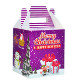 10 Decorative Creative Christmas Gift Boxes, Purple Snowman