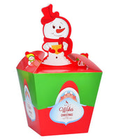 10 Decorative Creative Christmas Gift Boxes, Green And Red Snowmen