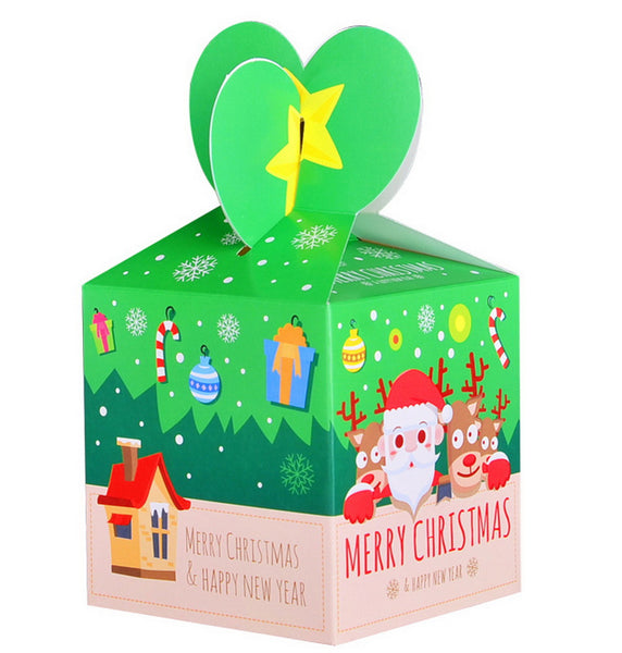 10 Decorative Creative Christmas Gift Boxes, Santa Claus And Fawns