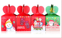 10 Decorative Creative Christmas Gift Boxes, Red Snowflakes