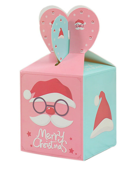 10 Decorative Creative Christmas Gift Boxes, Pink Blue Christmas Hat