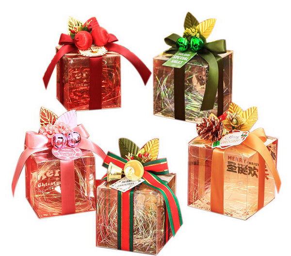 20 Decorative Christmas Transparent Gift Boxes, Mix And Match C