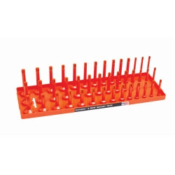 "1-2"" Sae 3-row Socket Tray, Orange"