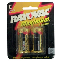 Rayovac C-cell Max-plus Alkaline (pack Of 2)