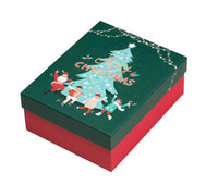 Large Christmas Gift Box Square Gift Boxes Gift Boxes For Christmas[green Lid]