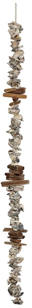Driftwood & Oyster Shell Clusters Garland 48""