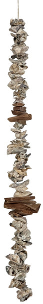 Driftwood & Oyster Shell Clusters Garland 36""