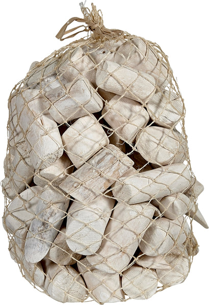 White Driftwood In Abaca Net 6x10""
