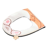 Winter Plush Zipper Toilet Seat Cover Pad Cute Dog Animal Household Toilet Seat Cushion Mat Toilet Seat Warmer