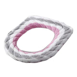 2 Pcs Knit Toilet Seat Cover Pads Winter Stretchable Toilet Seat Cushion Mat Toilet Seat Warmer,pink Grey White