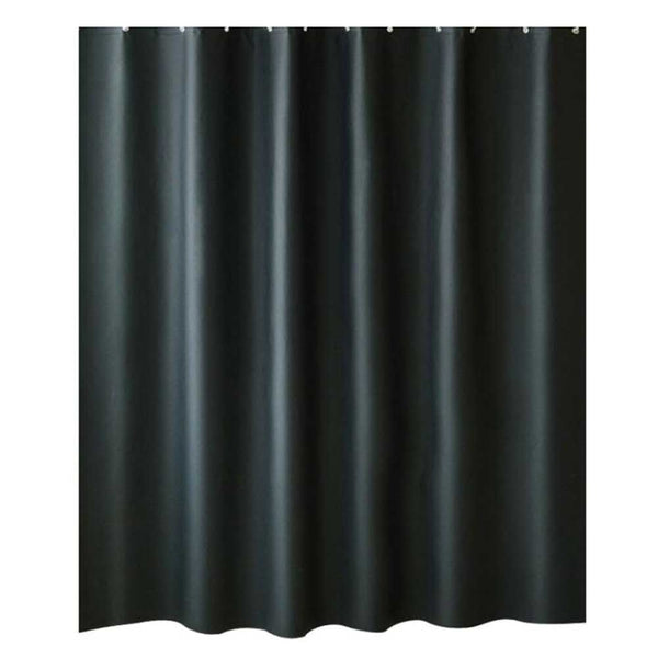 Black Peva Bathroom Shower Curtain Waterproof Shower Curtain Bathroom Decoration, 71x71inch