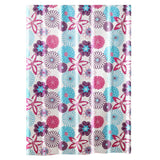 Colorful Flower Peva Bathroom Shower Curtain Waterproof Shower Curtain Toilet Partition Curtain, 71x71inch