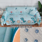 Summer Viscose Armchair Size Sofa Cover Sofa Couch Cool Mat Sofa Towel Cloth Furniture Textile Decoration,blue Dinosaur