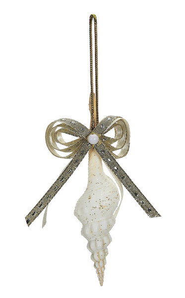 "6 Gold Bow Spindle Nautical Christmas Tree Ornaments 3-5"" (set Of 6)"