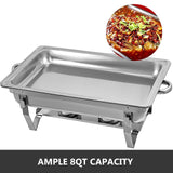 Steel Chafer - Quantity of 4 Units