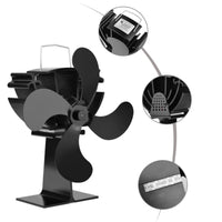 Fireplace Heat Powered Stove Fan