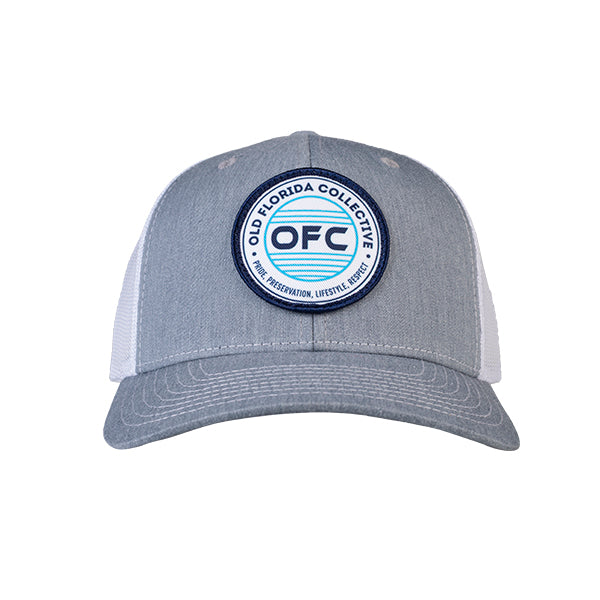 Heather Grey/White With OFC Logo Patch Trucker Snapback Hat *Youth Size Available