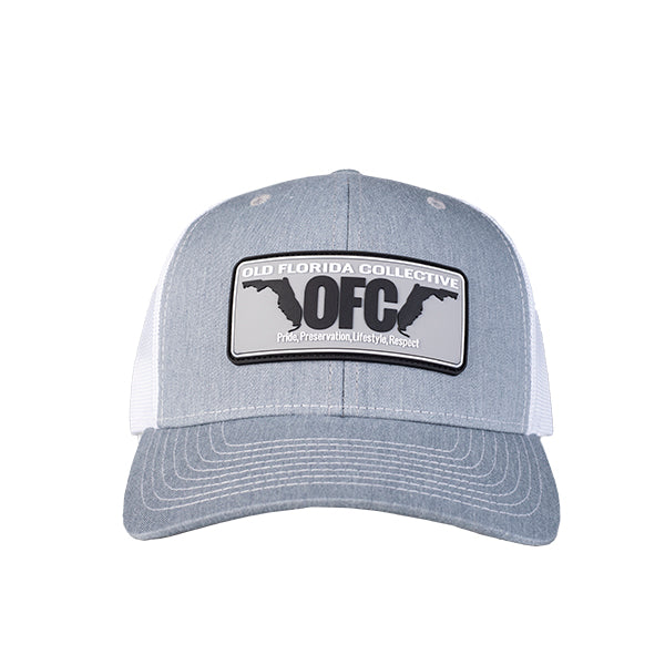 Heather Grey/White With Rubber OFC Florida Horns Patch Trucker Hat *Youth Size Available