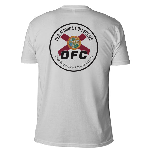 Men's Gray Short Sleeve With Florida Flag Logo