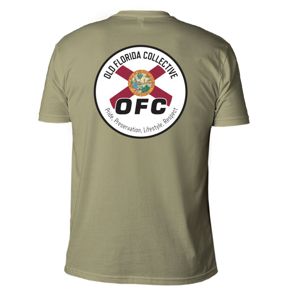 Men's Olive Short Sleeve With Florida Flag Logo