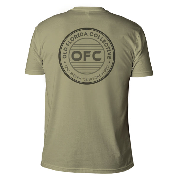 Men's Olive Short Sleeve With OFC Logo