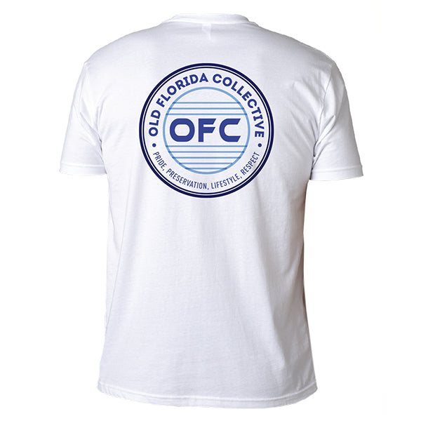 Men's White Short Sleeve With OFC Logo