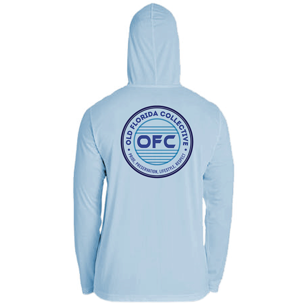 Men's Performance Ice Blue Hooded With OFC Logo