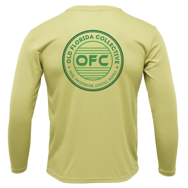 Men's Performance Canary Long Sleeve With Green OFC Logo