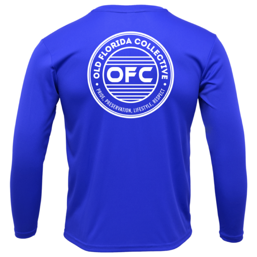 *NEW*   Men's Performance Royal Blue Long Sleeve OFC Logo