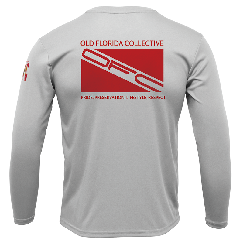 Men's Performance Silver Long Sleeve With Dive Flag Logo