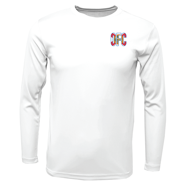 Men's Performance Long Sleeve With OFC Logo Front and Blue FL Flag Back