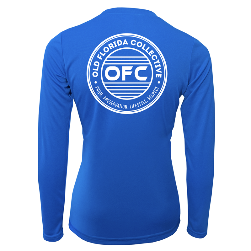 *NEW* Women's Electric Blue Performance Long Sleeve with OFC Logo