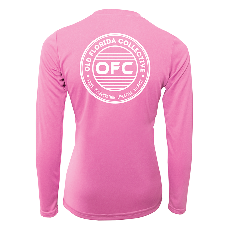 Women's Performance Pink Long Sleeve With OFC Logo
