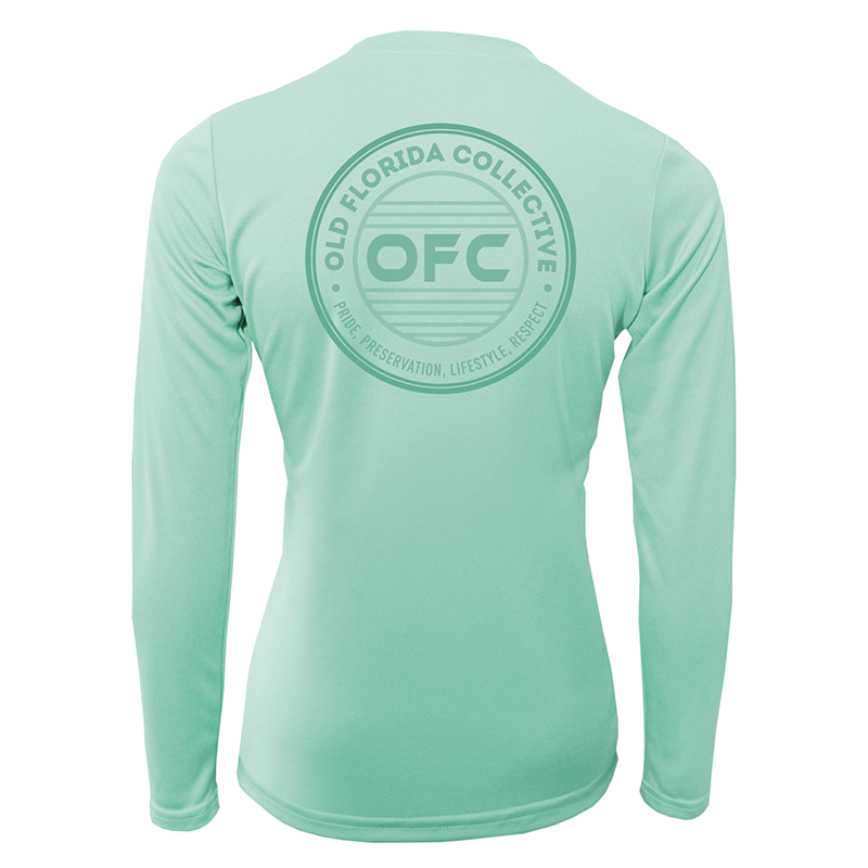 Women's Performance Sea Foam Long Sleeve With OFC Logo